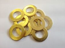 QTY 25   8mm (M8) SOLID BRASS FLAT WASHERS FORM A