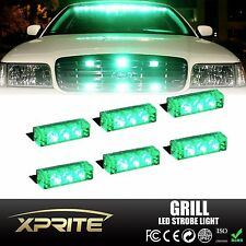 18 LED Emergency Vehicle Flash Strobe Light Lightbars For Front Grill Deck Green
