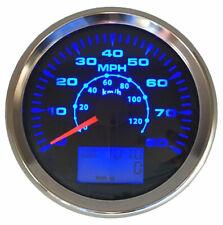 85mm Car GPS Speedometer Gauge 0-80MPH 120km/h Speed Odometer 8Colors Backlight