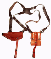Miami Vice Leather Horizontal Shoulder Holster for Colt 1911 Right or Left Hand