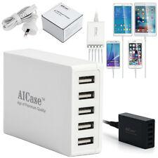 Multi Port USB Charger 5 Ports AC Adapter Travel Wall USB Hub Charging Station