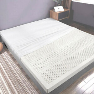 100% Natural Latex Mattress Topper With 7 Zone Support - 7.5cm - King Queen