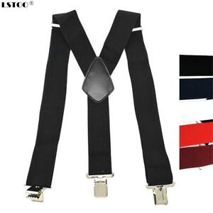 Large Strong Tool Belt Suspenders Heavy Duty Work For Men Adjustable Black NEW