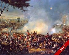 BATTLE OF WATERLOO PAINTING FRENCH CONQUEST NAPOLEON WAR ART REAL CANVASPRINT