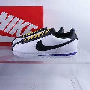 Size 11.5 Men's Nike Cortez Basic Leather Sneakers BV2527-100 White/Black