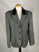 Ladies Jacket Size 14 Grey Tweed Boucle Smart Casual Country Day Work