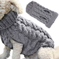 Pet Puppy Winter Warm Clothes Knited Jacket Sweater Dog Cat Coat Outwear Jacke