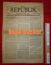 Orig. DIE REPUBLIK (10. Januar 1919): AN ALLE SOZIALISTEN! (Spartakus-Aufstand)