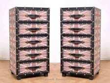2 UNION JACK Schubladenkommoden Nachtschränke Wardrobe Trunk Container 5 Schubla