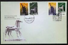 2004 Ianchelevici,jewish sculptor,JUDAICA,Horse,Romania-Belgium,5863,special FDC