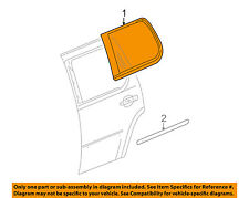 Cadillac GM OEM 07-14 Escalade Exterior-Rear-Reveal Molding Right 20772079