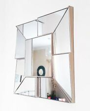 Square clear mosaic design wall mirror 40cm-vintage style-NEW