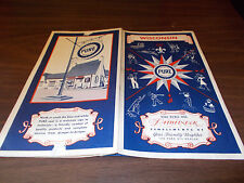 1937 Pure Wisconsin Vintage Road Map / Nice Covers !!