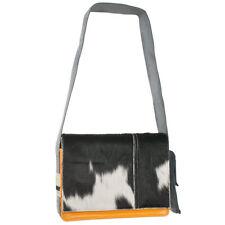 70bbbc1887ca7 Messenger Bag Tasche PROVOKED orange COW schwarz Kuhfelltasche Umhängetasche