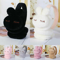 Cute 3D Rabbit Warm Earmuffs Winter Kids Outdoor Soft Plush Ear Warmer Ear Cover