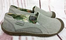Keen Shoes Womens US Size 7 Gray Canvas Slip On Comfort Flats Outdoor Walking