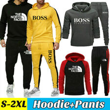 2Pcs Men's Hoodies Sweatshirt Pants Tracksuit Set Bottoms Sport Jogging Suit Gym