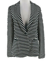 Philosophy Women's Black & White Striped One Button Blazer Size Small NEW