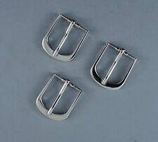 "Light weight 1""(25mm) Pin Belt Buckle(#15B) (3  buckles set) Silver Color"