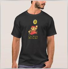 Nintendo Super Mario Bitcoin Mens Black Medium Tee Shirt w/ Dave Chappelle Quote