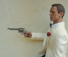 1/6 Scale Miniature Smith & Wesson Revolver and Leather Holster gun weapon