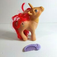 "1984 My Little Pony G1 6"" Skyflier Glitter Unicorn Figure w/ Comb MLP"