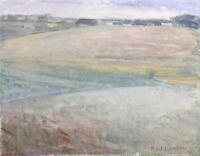 Oil Painting Denmark Modern Type Wide Landscape Povl Larsen 1911-1989