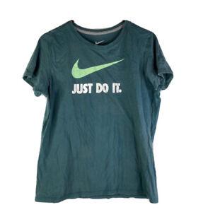Nike Athletic Shirt Slim Fit Womens XXL Green Logo