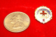 Vintage Cross and Crown Baptist Lapel Pinback by Lucas - 1940's
