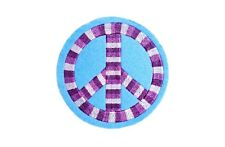 PEACE SYMBOL EMBROIDERED SEW ON PATCH