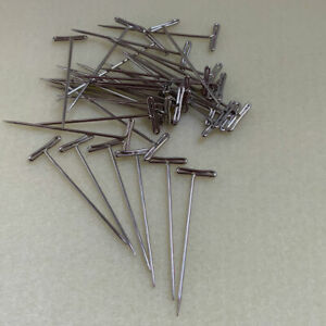 Macramé T Pins 51mm long and 1.2mm thick, packs of 36 or 100, jewellery crafting