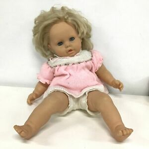 Zapf Creatio Large Doll with Blonde Hair & Woollen Outfit #404