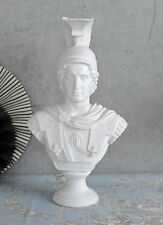 ALEXANDER DER GROSSE BÜSTE Kriegerkopf mit Helm Statue Hellenismus Kriegerbüste
