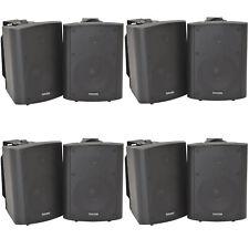 """8x 90w schwarz Wandmontage Stereo Lautsprecher –5.25"""" 8 Ohm – Qualität Home Audio Musik"""