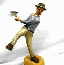 LUMBERJACK AXE MAN Number 2 O On3 On30 Model Railroad Painted Figure FGOGLOG01B