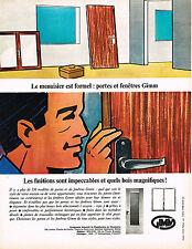 PUBLICITE ADVERTISING  1965   GIMM  menuiseries portes & fenetres