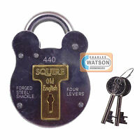 Squire 440 Old English Steel All Weather Padlock Gate Garage Shed Security Style
