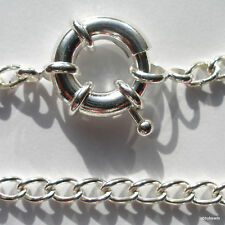 "12 heavy Curb chain necklaces18"" Silver Plated Large bolt clasp 15mm"