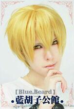 NEW Kuroko's Basketball Kise Ryota Short Blonde Cosplay Wig + Free Cap Track No.