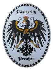 Plaque en émail La prusse Royaume Friedrich un grand 11,5 x 15 cm