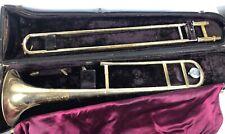 Vintage Trombone Olds Ambassador Brass Needs Restored Bad Shape