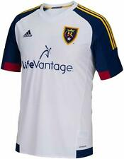 Adidas MLS Real Salt Lake Boys Youth Replica Short Sleeve Jersey White Small