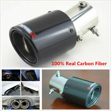 Real Carbon Fiber 63-89mm Angle Adjustable Auto Car Exhaust Pipe Tail Tip Glossy