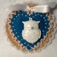 Owl decorations, ornaments, christmas decorations, teal