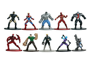 4 Marvel Mystery Bag Die Cast Mini-Figures Collectible New  Nano METALFIG