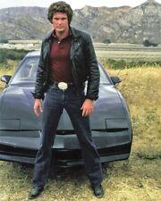1982 Knight Rider Television Show David Hasselhoff Pontiac Trans Am 8X10 Photo