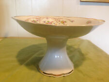 Limoges Compote (Footed, Gold Trim)