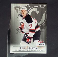 PAUL MARTIN  /750  RC  2003-04 Titanium Retail #127  New Jersy Devils  Rookie