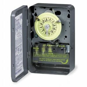 Intermatic T104 Electromechanical Timer,24 Hour,Dpst