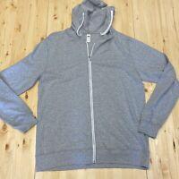 Fruit of the Loom Men's Large Gray Sofspun Full-Zip hoodie jacket - SF60R